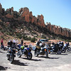 Dual Sport ride about to depart down Burr Trail to Bull Frog.  9/24/2011<br /> KTM 950, R1150GS, Super Tenere, R1150GS.  KTM 990 near end and another R1150GSA on end.