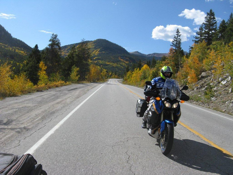 Bill's picture east side of Monarch Pass, Co.  hwy 50  9/25/2011 Enjoying the Super Tenere!