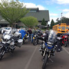 The Evergreen Aviation Museum is located near the rally, so lots of riders came to visit.