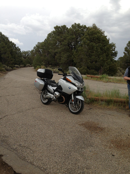 This is my ride to the BMW Motorcycle Owners of America's annual rally in Salem, OR. Of course we didn't ride straight there from home, we went through Denver and Tacoma instead. Here we are in Bob Scott campground near Austin, NV.