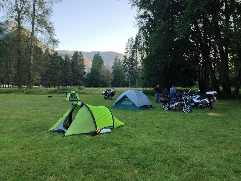 Camped at Cascade Peaks RV park in Washington.