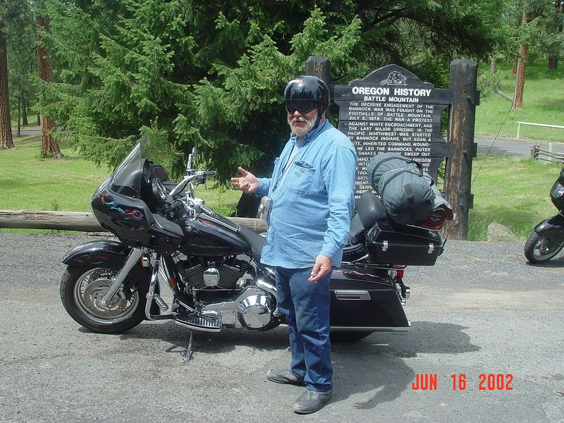 Jim and his Harley-Road Glide