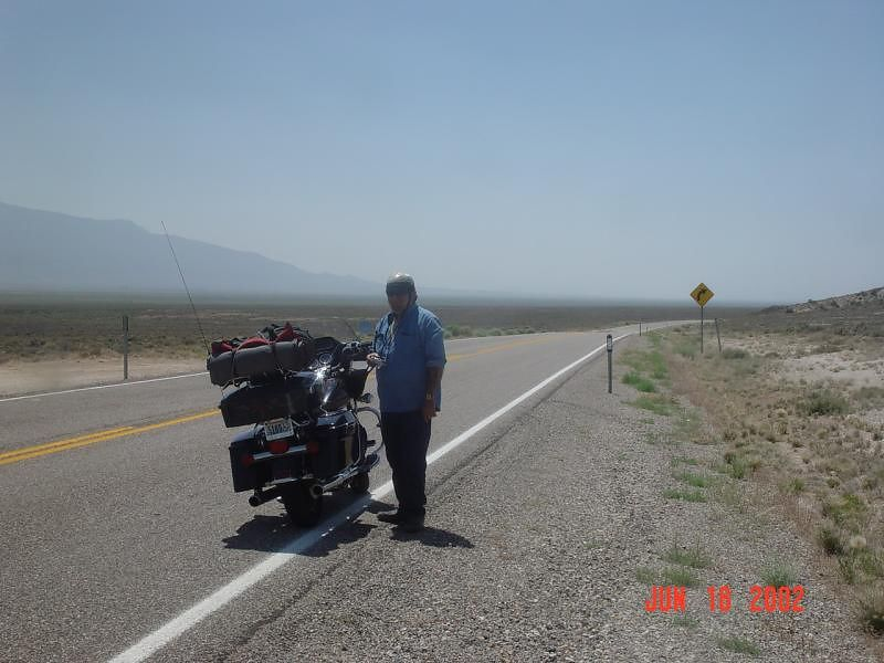 Jim starting to cross the Great Basin