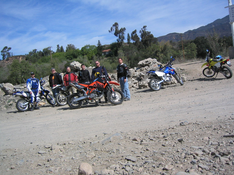 The beginning of the ride at the entrance to Trabuco Creek Rd.