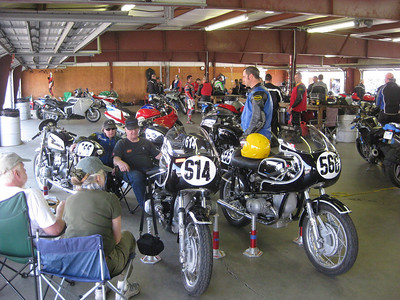 Dave Percival Motorsport Team and his bikes.