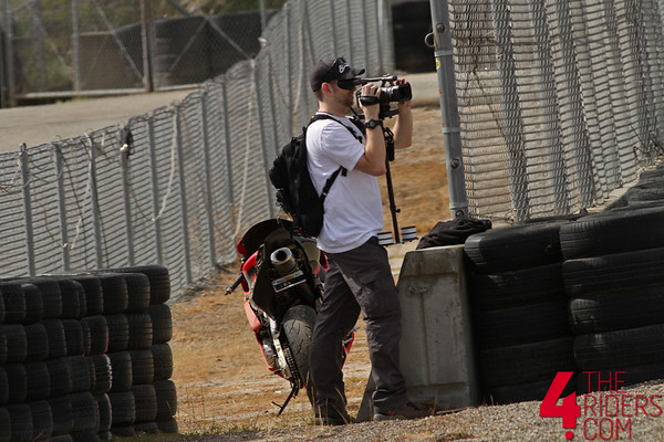 kevin filming at laguna seca