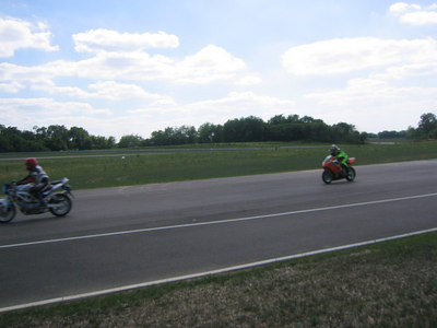 Mark and I? Going into turn 1