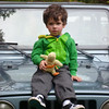 Max chillin' on Tom's Jeep - clearly not sure what this is all about.