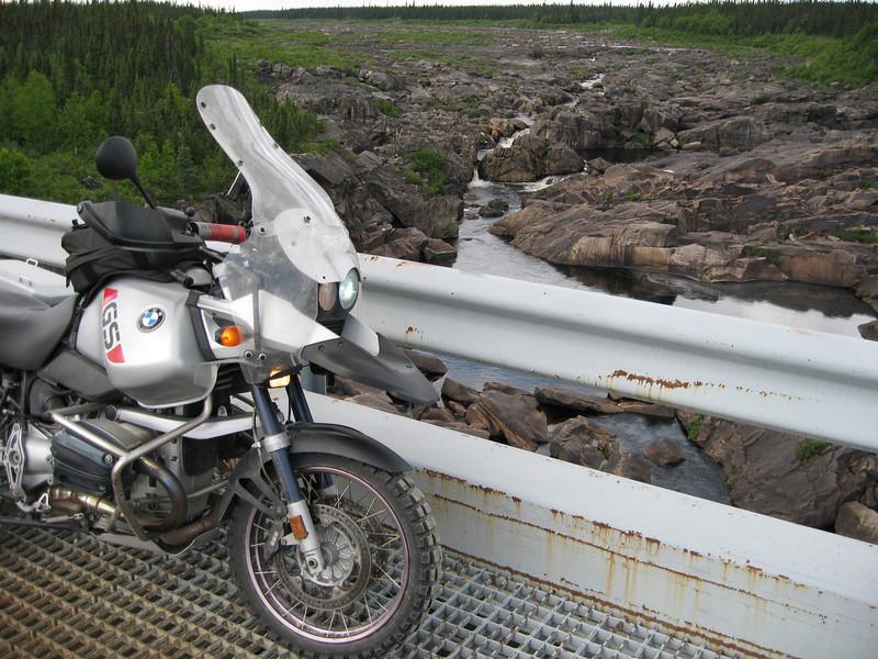R1150GS on Churchill River bridge