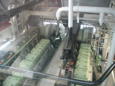 Engine room of the MV Northern Ranger