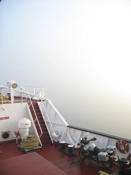 Early morning fog near Rigolet