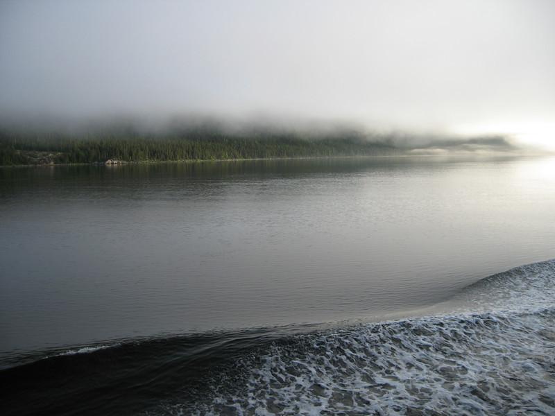 Fog is lifting...