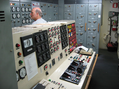 Engine control room of the MV Northern Ranger