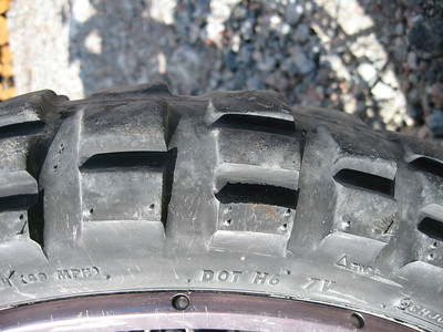 Front tire is wearing quickly on the gravel