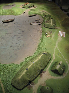 Scale model of settlement