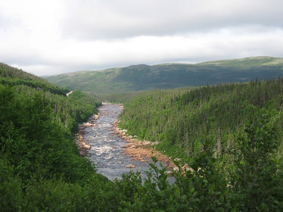 Overlooking the Pinware river