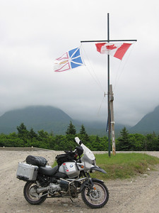 R1150GS with Newfoundland and Canadian flags