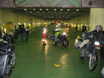 Car deck of the MV Caribou