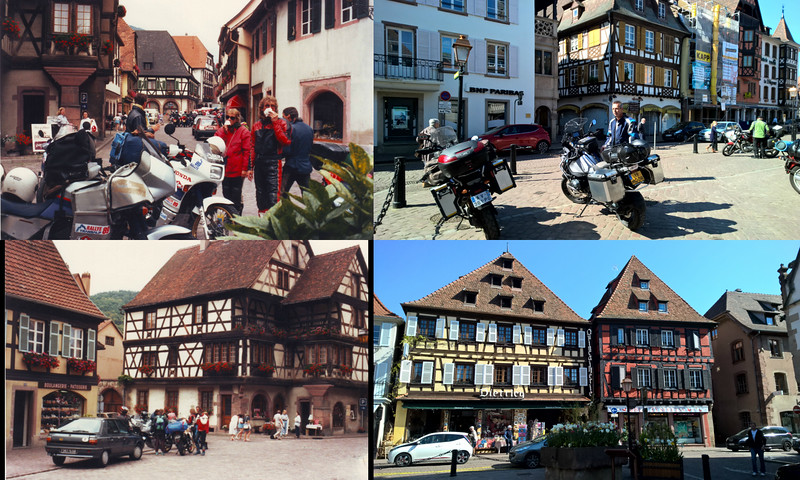 Alsace villages    1989 and 2016