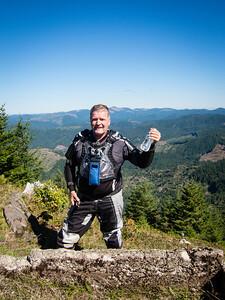 Tawm on the top of Grindstone Peak