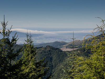 View from Grindstone Peak down into Tillamook