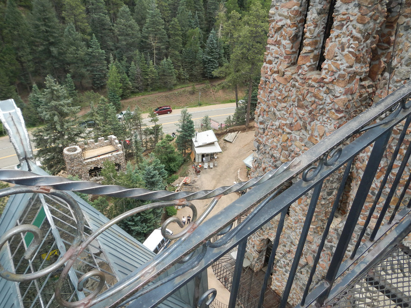 "Looking down from the bridge of Jim Bishop's ""castle"".  This place is incredible!"