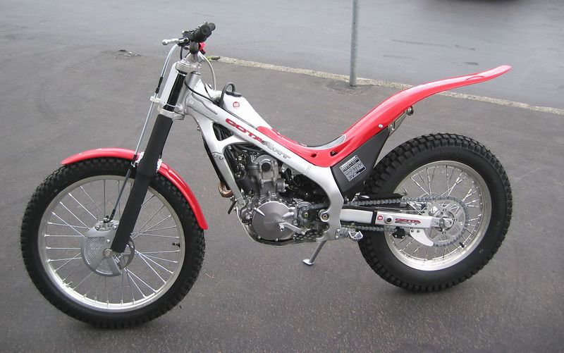 Brand new at dealers.  The first 4-stroke fuel-injected 250cc trials bike. April 2005