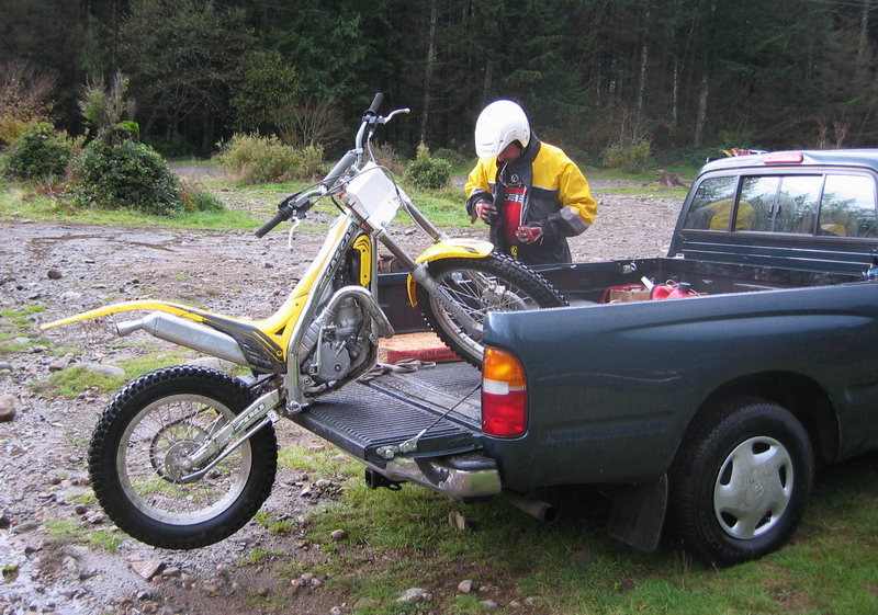 Trials bikes are easy to unload ;)