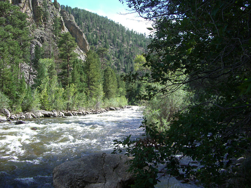 Poudre Canyon is a beautiful ride between Loveland and Steamboat Springs