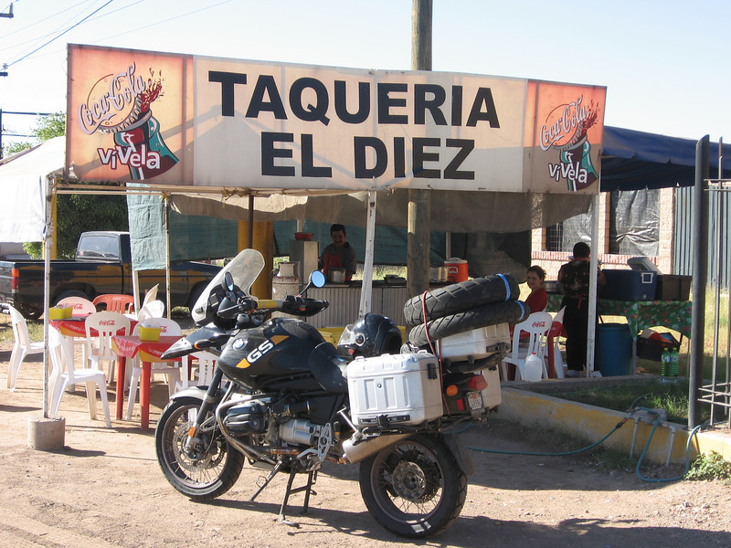 Stop for lunch North of Mazatlan