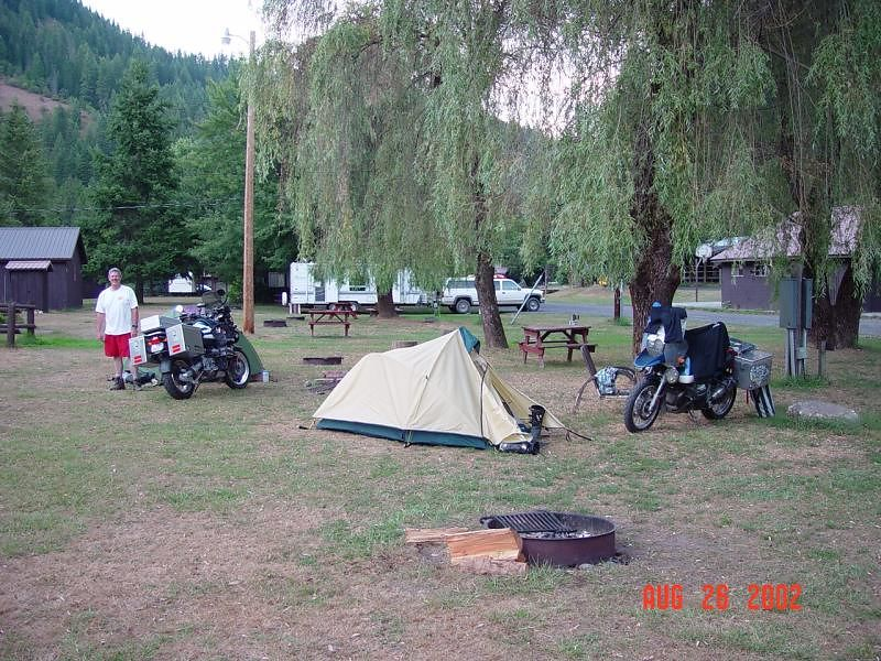 Our camp site at Lowell Idaho