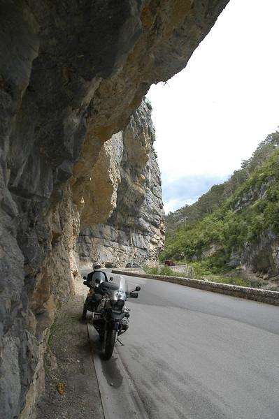 after castellane, coming into the Gorges du verdon. Rive droite