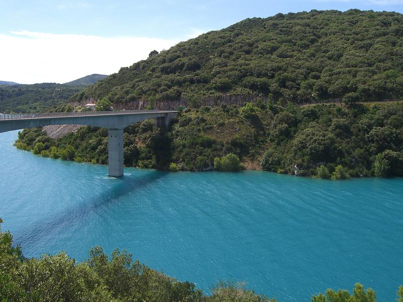 Lac de Sainte Croix bridge next to the dam.