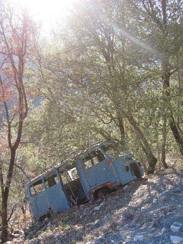 Dumped or crashed? The former I suspect...