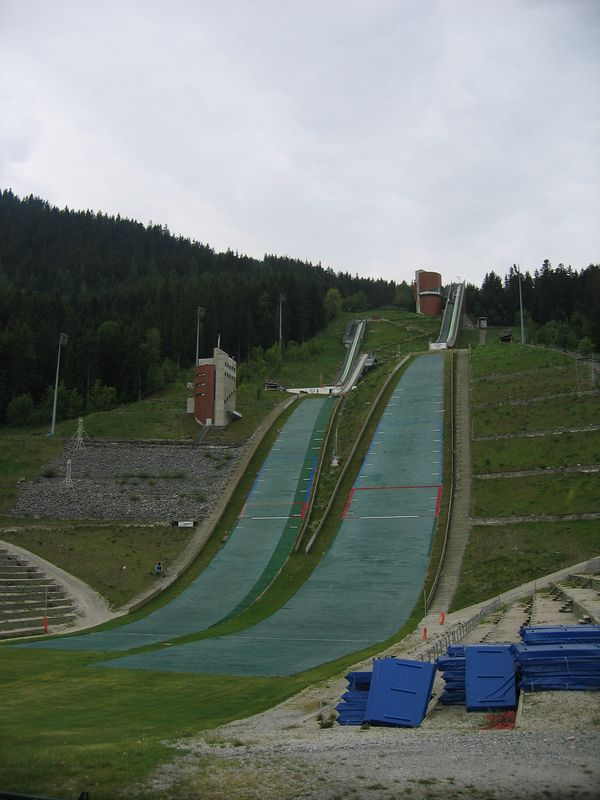 Ski jump practice area at Courchevel. Apparently we were unlucky not to see anyone practicing here, as they come from all over to try it.