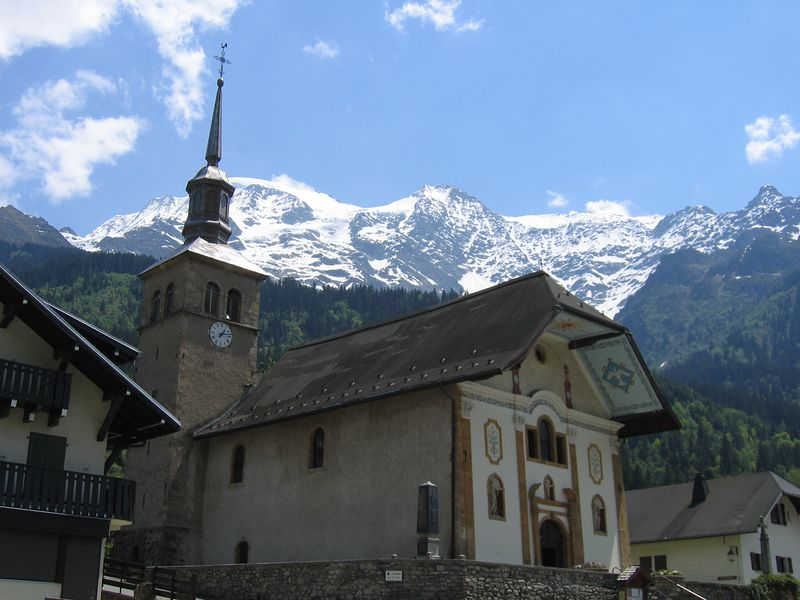 Church in Les Contamines, on the D902 from St Gervais les-bains.