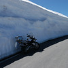 this is the wall of snow left when the clearers go through, must have been at least 4m deep :-O