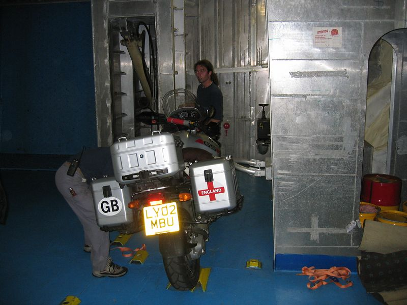 bikes securely attached onboard