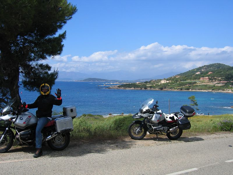 heading south from Ajaccio