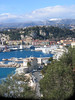 Looking back over Nice harbour