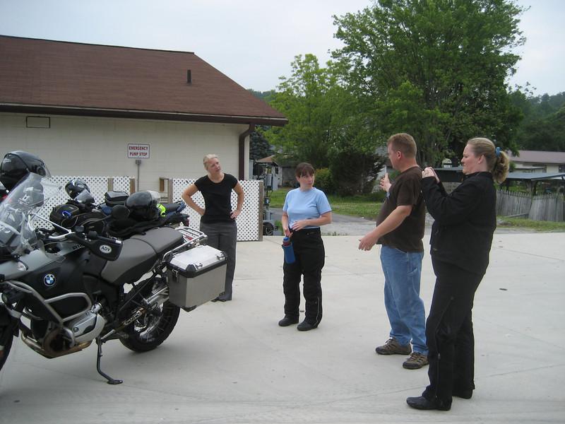 Fuel stop in Rosman, NC.
