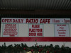 "<a href=""http://www.lovecreekorchards.com/patio.htm"">Cider Mill Cafe</a> in Medina.  Full sign."