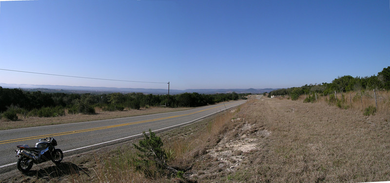 Rough panoramic shot of 2828 south of Center Point.