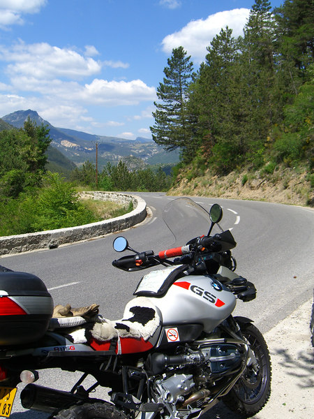 Route Napoleon, looking towards Castellane.