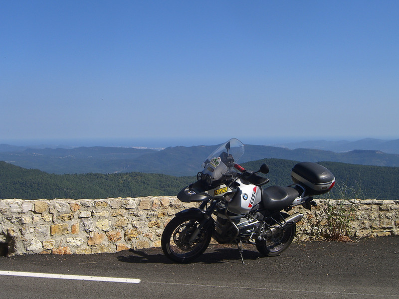 Road up to the Col de Belle Homme (D25) With Cannes visible in the background