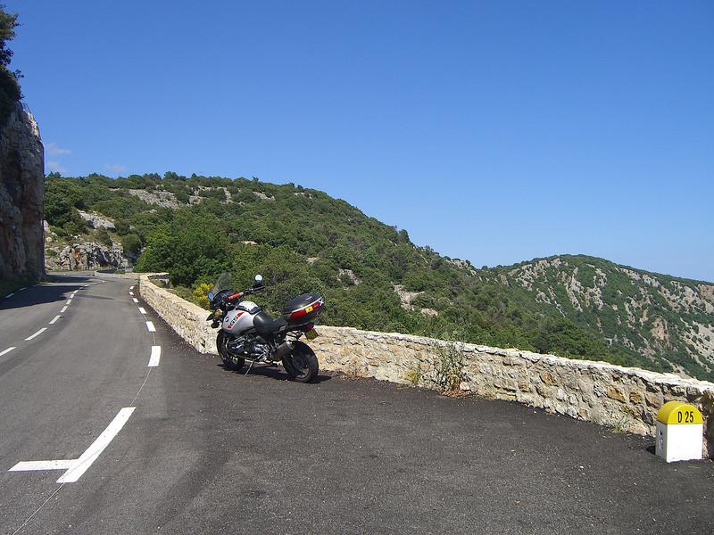 Road up to the Col de Belle Homme (D25)