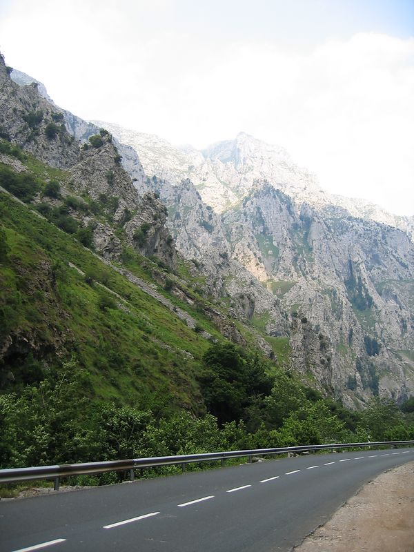 The gorges going down from Santander to Potes...