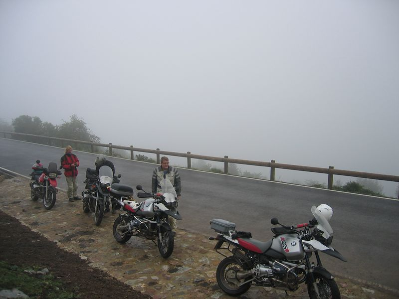Fine sunny day in Picos..NOT! My teeth were chattering here, and I had to put my fleece on under my bike jacket...brrr 19/06/04