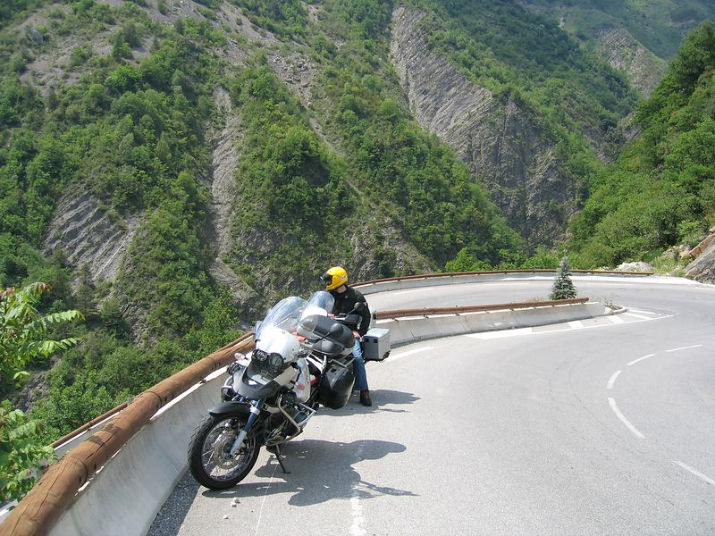 Hairpins on the D28 to Valberg