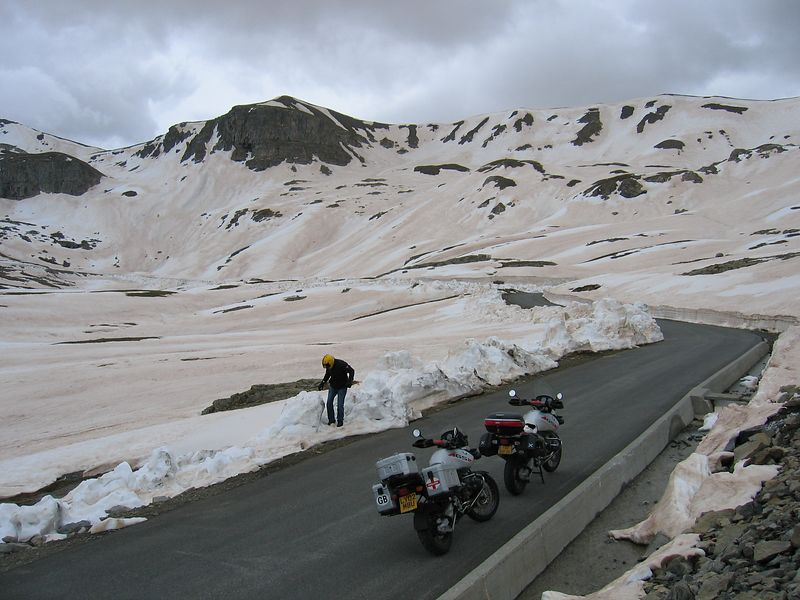 Col de la Bonette road, highest in Europe at 2860m, the road was closed to traffic with three big boulders just before this, so we had it to ourselves...